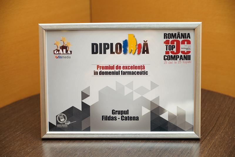 DIPLOMA-FILDAS-si-CATENA-Group_PREMIUL-de-EXCELENTA-la-Gala-Top-100-Companii-2016